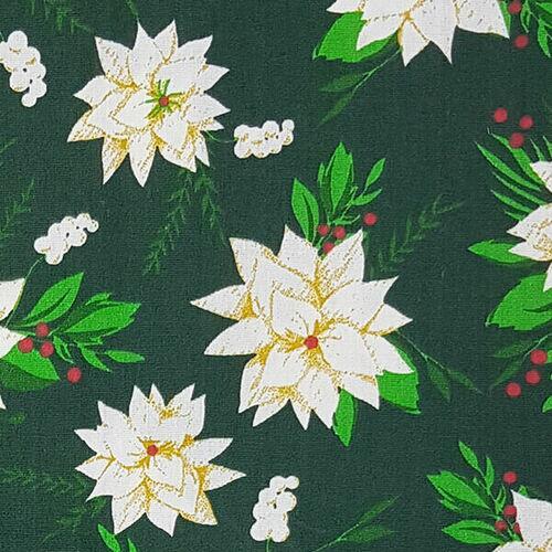 Tricoline Flor Natal Fundo Verde