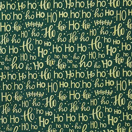 Tricoline Natal HohoHo Fundo Verde