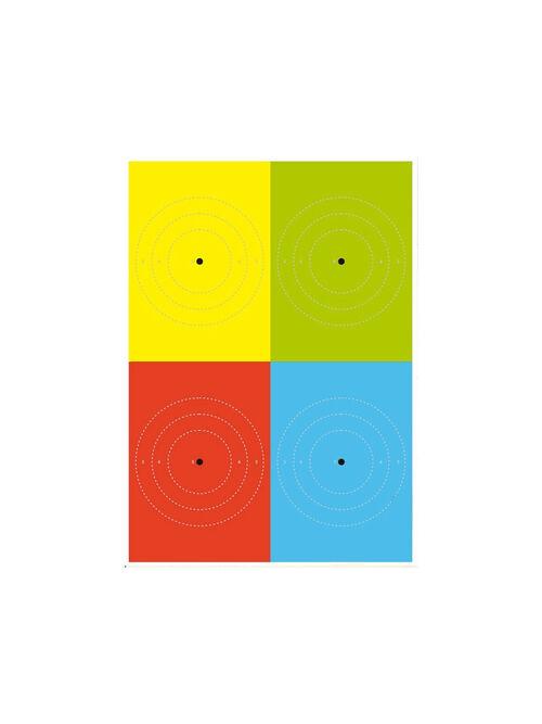 Alvo percepção 4 cores - PF/ Porte de arma