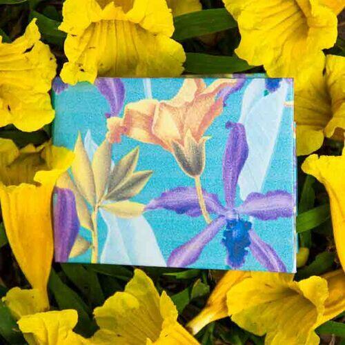 Carteira | Floral Azul