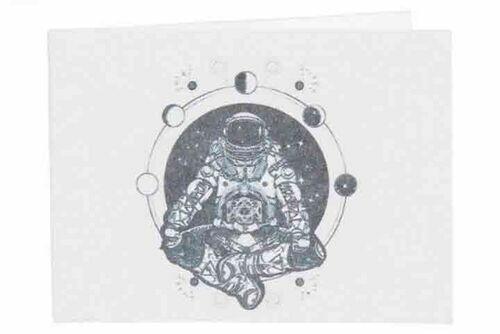 Carteira | Astronauta em Posição de Lótus