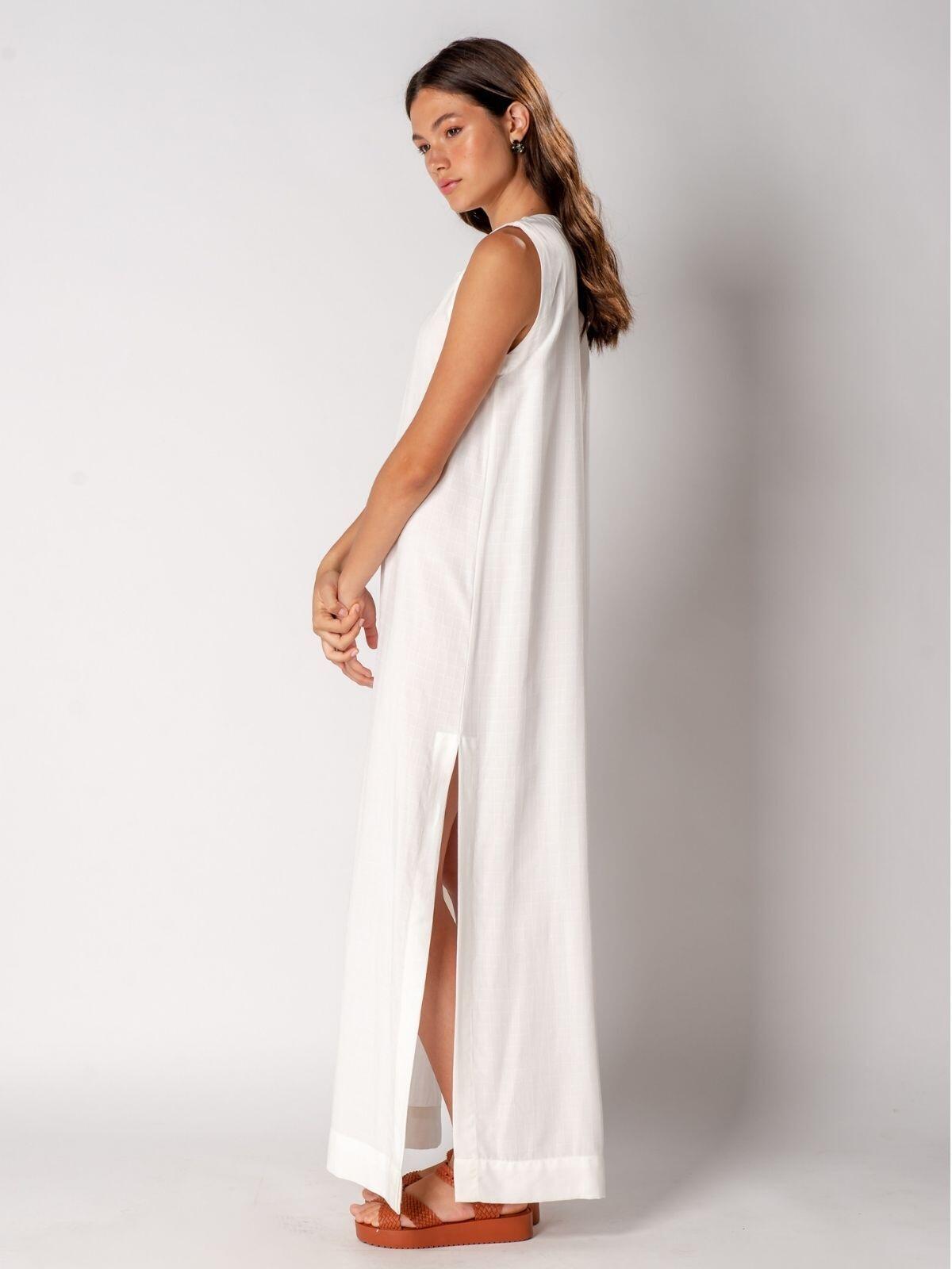 túnica eco viscose off-white