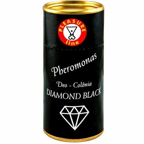DEO COLÔNIA DIAMOND BLACK MASCULINA PHEROMONAS 20ML