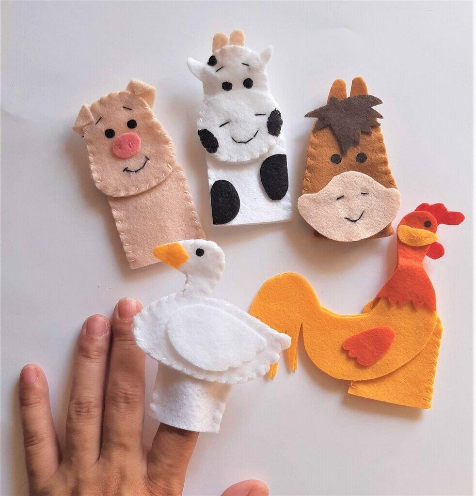 Brinquedo Educativo Fantoche De Dedo - Dedoche Fazendinha