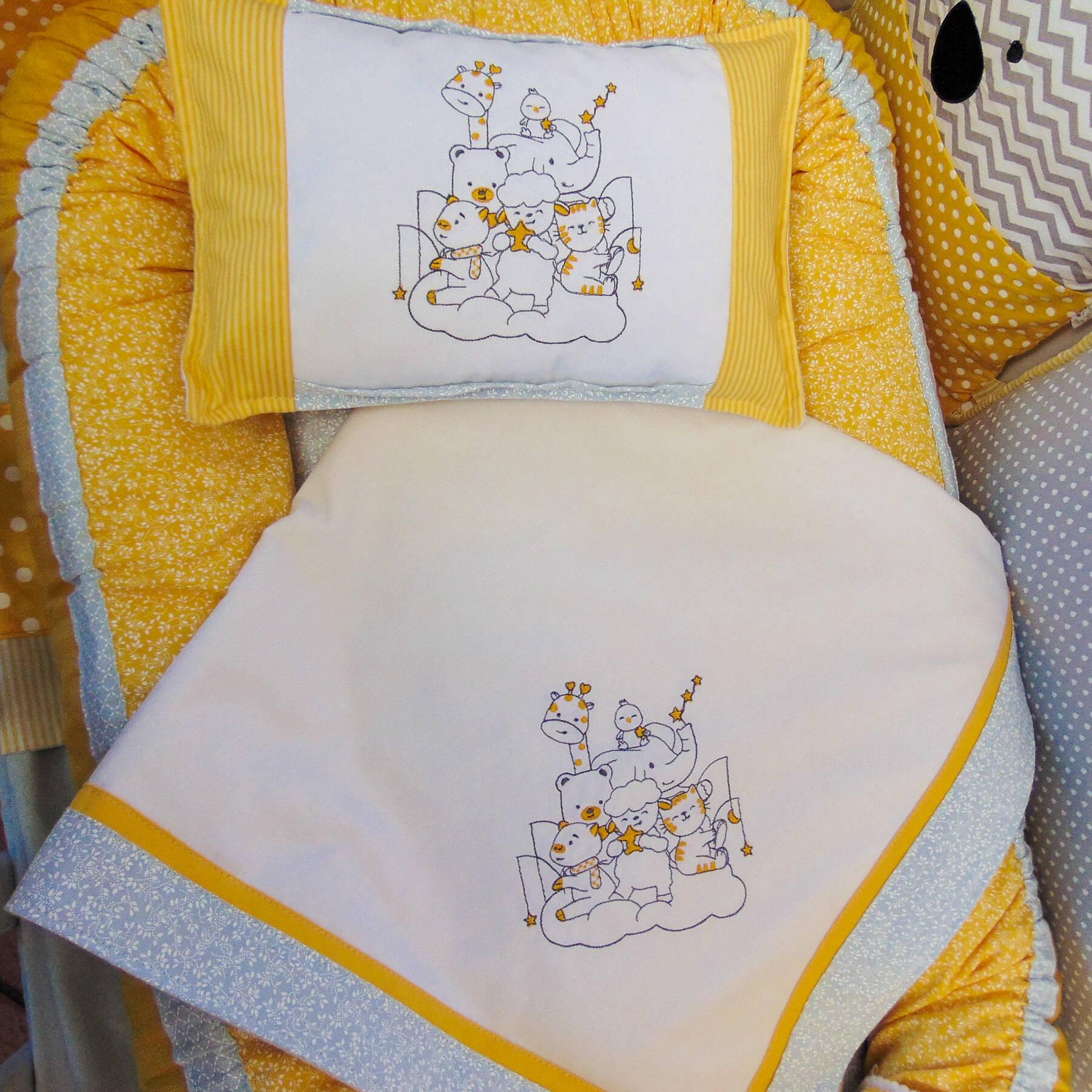 Manta (Cueiro) e Mini Travesseiro