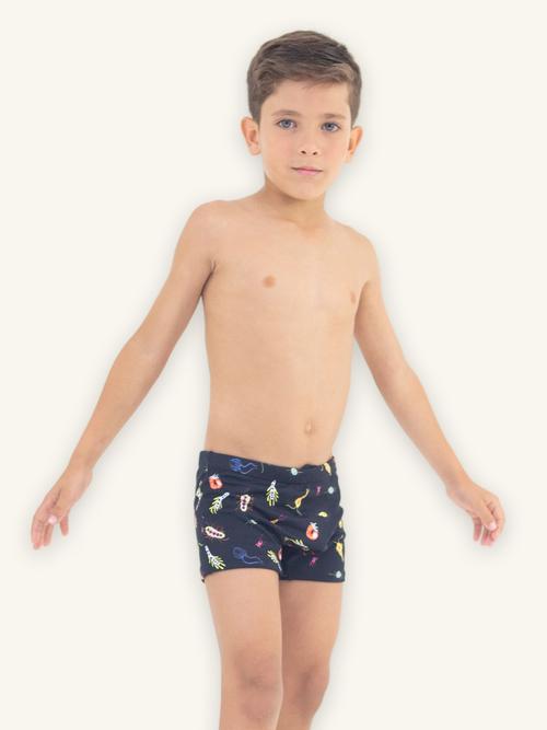 Sunga Boxer Infantil Planctons Proteção UV