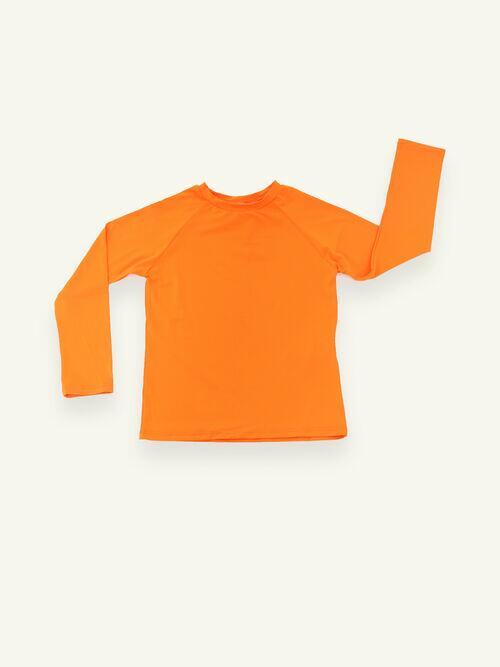 Camiseta UV Manga Longa Laranjada Unissex