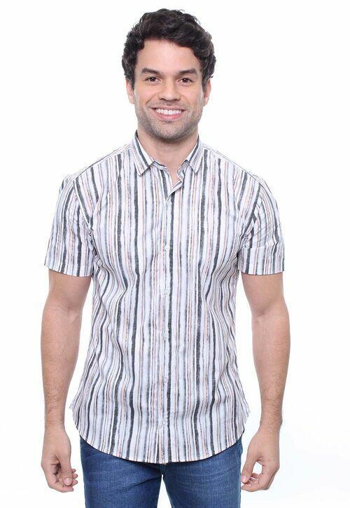 Camisa Masculina Manga Curta Crocker - 47829