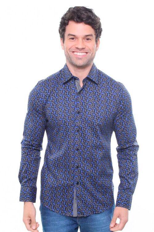 Camisa Masculina Estampada Manga Curta Crocker