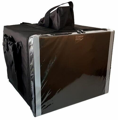 Bolsa Mochila Bag Motoboy Entrega Pizza 45cm Térmica Revestida Aluminio
