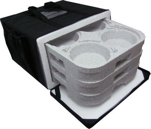 Bolsa Mochila Bag Térmica Motoboy Entrega 12 Marmitex de Alumínio Pizza 40cm Lanches