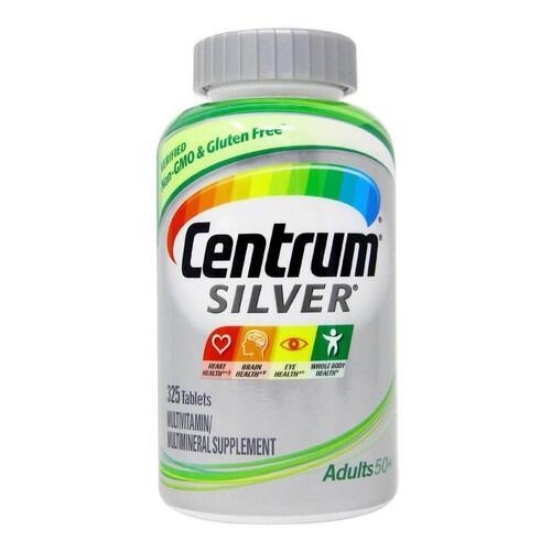 Multivitamínico Centrum Silver - Adultos 50+ - 325 tablets - Frete Grátis