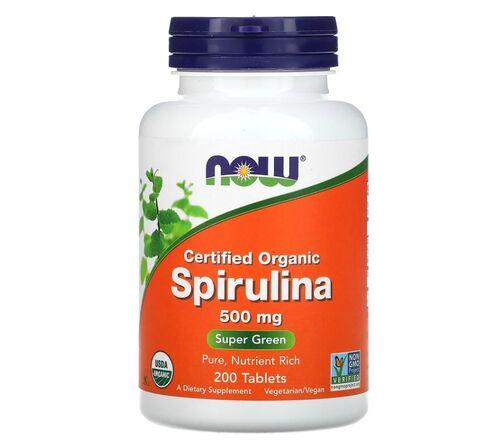Spirulina 500 mg - Now Foods - Total 200 Cápsulas