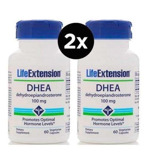 2x DHEA 100 mg - Life Extension - Total 120 cápsulas - Frete Grátis