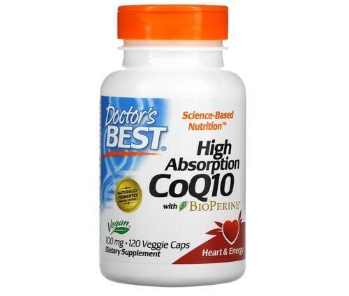 Coenzima Q10 (CoQ10) 100 mg + Bioperina  - Doctor´s Best - 120 softgels