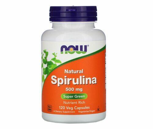 Spirulina 500 mg - Now Foods - 120 Cápsulas