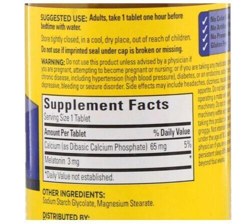Melatonina 3 mg - Nature Made - 240 Tablets