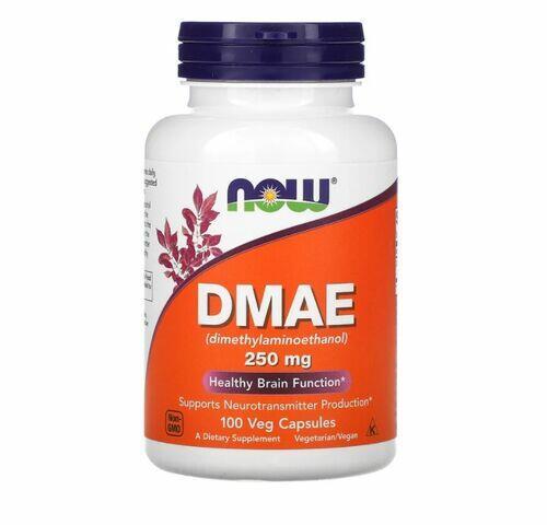 2 x DMAE 250 mg - Now Foods - Total 200 cápsulas