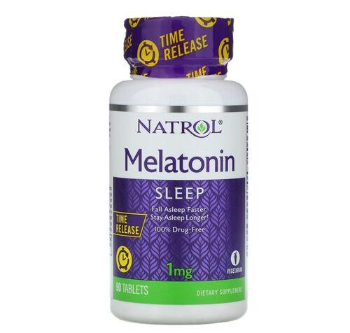2 x Melatonina 1 mg Liberação Gradual -  Natrol - Total 180  Tablets