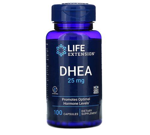 2x DHEA 25 mg  -  Life Extension -  Total 200 cápsulas