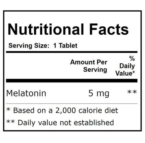 2 x Melatonina 5 mg Liberação Sustentada - Now Foods - Total 240 Tablets