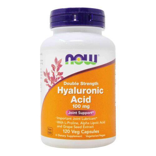 Ácido Hialurônico 100 mg + MSM - Now Foods - 120 cápsulas