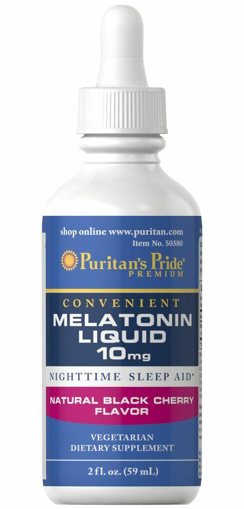 Melatonina Líquida 10 mg Sabor Cereja - Puritan´s Pride - 59 ml