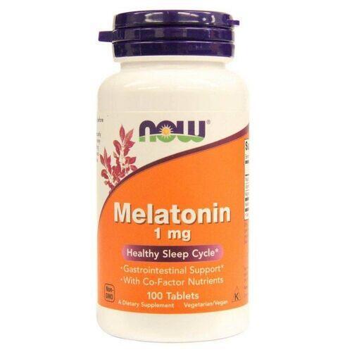 2 x Melatonina 1 mg  -  Now Foods - Total 200 comprimidos
