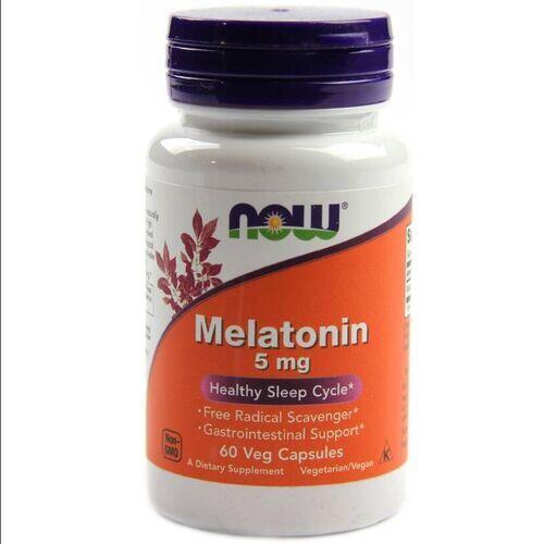 2 x Melatonina 5 mg - Now Foods - Total 120 Tablets