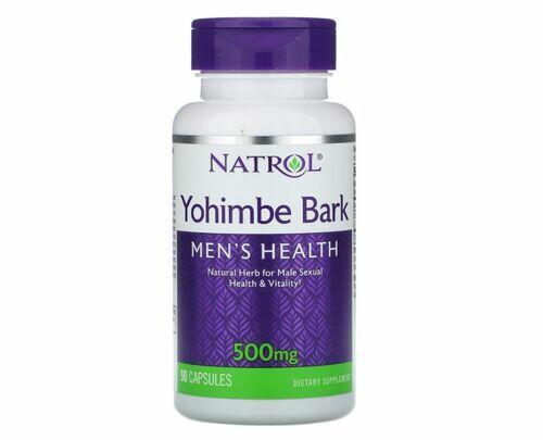 Casca de Yohimbe 500 mg - Natrol 90 Cápsulas