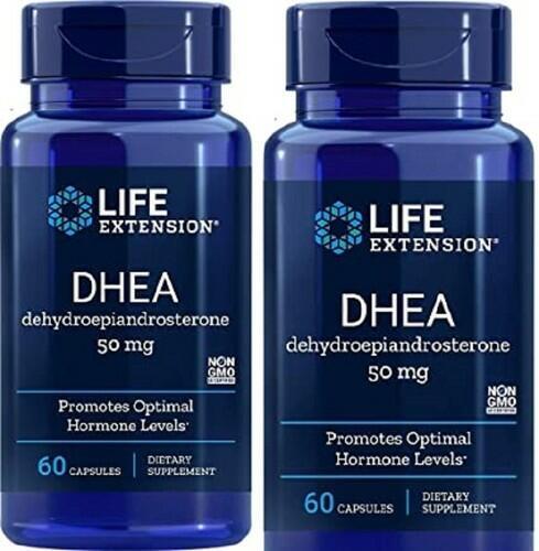 2x DHEA 50 mg - Life Extension - total 120 cápsulas