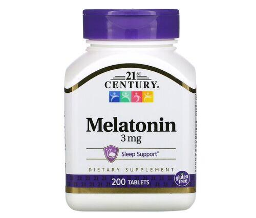 Melatonina 3 mg - 21st century  - 200 comprimidos