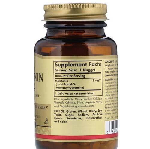 Melatonina 3 mg - Solgar - 120 Tablets
