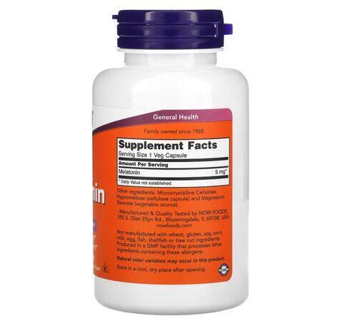 2 x Melatonina 5 mg - Now Foods - Total 360 Cápsulas (hormônio do sono)