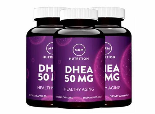 3 x DHEA 50 mg - MRM - Total 270 cápsulas