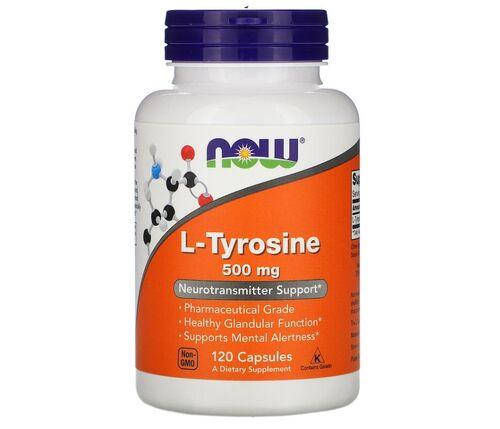 L-Tyrosine (L-Tyrosine) 500 mg - Now Foods - 120 cápsulas