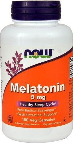 Melatonina 5 mg - Now Foods - 180 Cápsulas