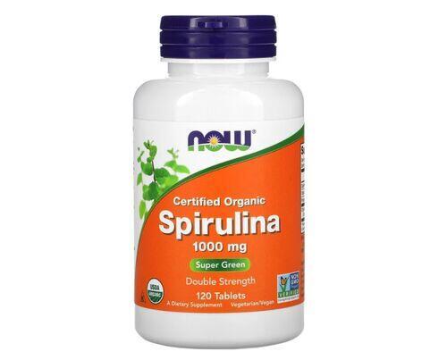 Spirulina 1000 mg - Now Foods - 120 Cápsulas