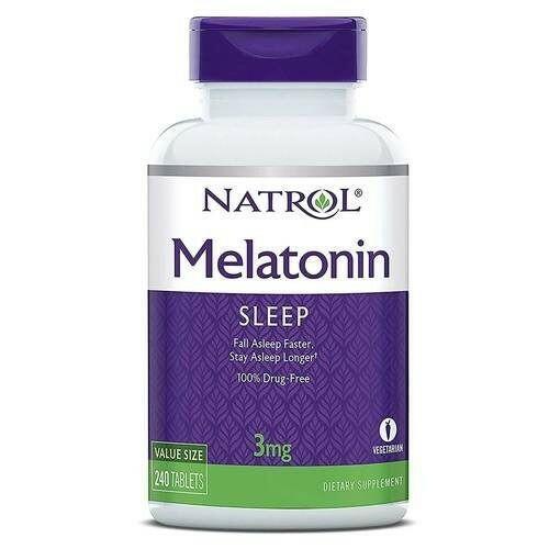 Melatonina 3 mg - Natrol - 240 comprimidos (hormônio do sono)
