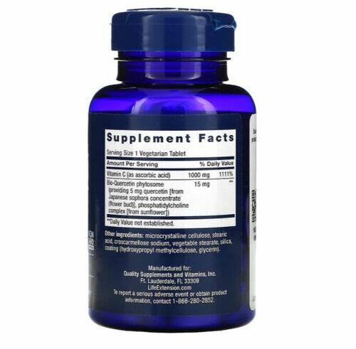 Vitamina C com Bio-Quercetina - Life Extension - 250 Cápsulas
