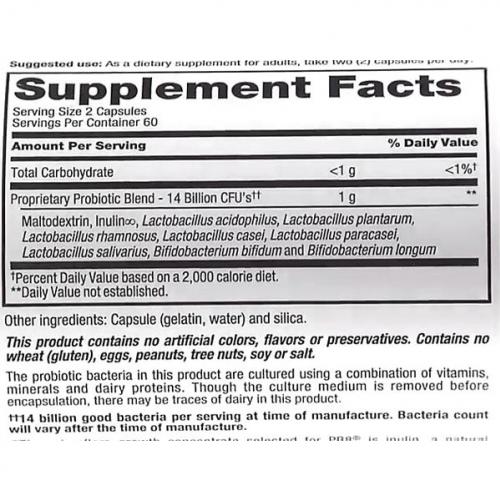Pb8 Probiótico 14 bilhões - Now Nutrition - 120 Cápsulas Frete Grátis