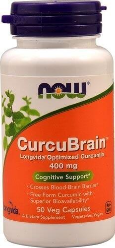 CurcuBrain 400 mg (Curcumin Otimizado) - Now Foods - 50 Cápsulas