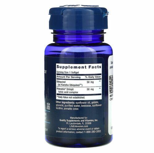 Super Ubiquinol Coq-10 50 mg - Life Extension - 30 softgels