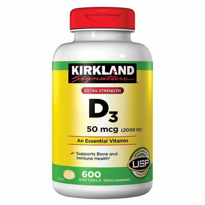 Vitamina D-3 2000 IU - Kirkland - 600 Softgels