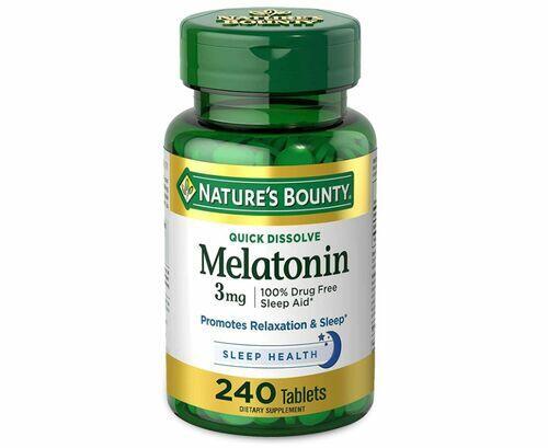 Melatonina 3 mg Rápida dissolução - Natures Bounty - 240 comprimidos