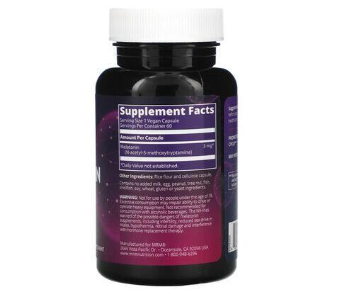 2 x Melatonina 3 mg - MRM - total 120 Cápsulas (hormônio do sono)