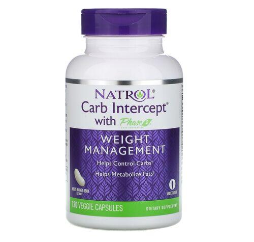 Bloqueador de Carboidratos (Carb Intercept fase 2 ) - Natrol -  120 cápsulas