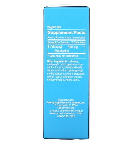 Same Adenosyl Methionine (SAME) 400 mg - Life Extension - 30 Tablets