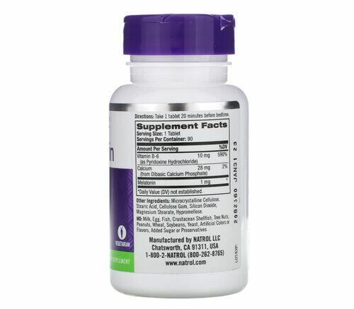 2 x Melatonina 1 mg - Natrol - Total 180 tablets