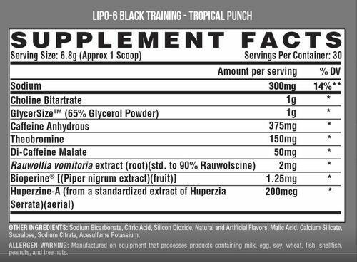 Pré Treino Lipo 6 Black Training - Nutrex - 30 doses